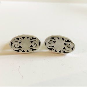 Vintage Sterling Silver MAR MEXICO Cufflinks